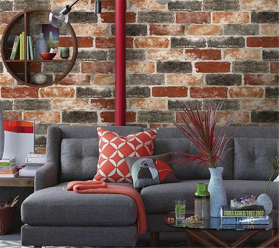 Beibehang Brick Stereo Wallpaper Living Room TV Hotel Design Background Brick wallpaper papel contact wall papers home decor<br>