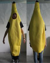 real picture!!! hot sale Fun Adult Banana costume Body Suit Costume Unisex Outfit Fancy Dress Halloween costume free pp