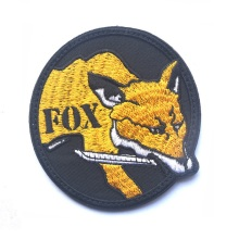 Embroidery Fox Hound Patch 3D Cloth Tactical Patches Loop And Hook Military Morale Armband Army Combat Badge(China)