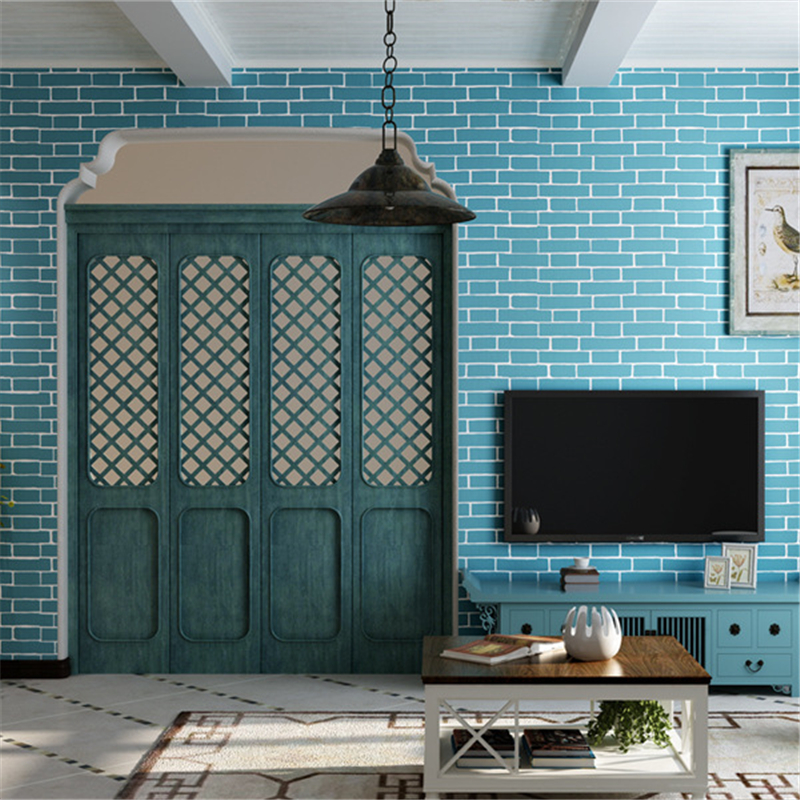 beibehang Thick 3D Stereo Brick Wallpaper Wallpaper TV Backdrop Wallpaper Garment Shop Brick Wallpaper<br>