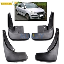 Molded Mud Flaps Volkswagen VW Polo Mk4 9N3 2005-2009 Mudflaps Splash Guards Front Rear Flap Mudguards 2006 2007 2008 9N - MISIMA_Bestclickshop store