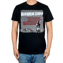 Free shipping  Green Day Last Of The American Girls album cover men's punk rock  Alternative black T-Shirt