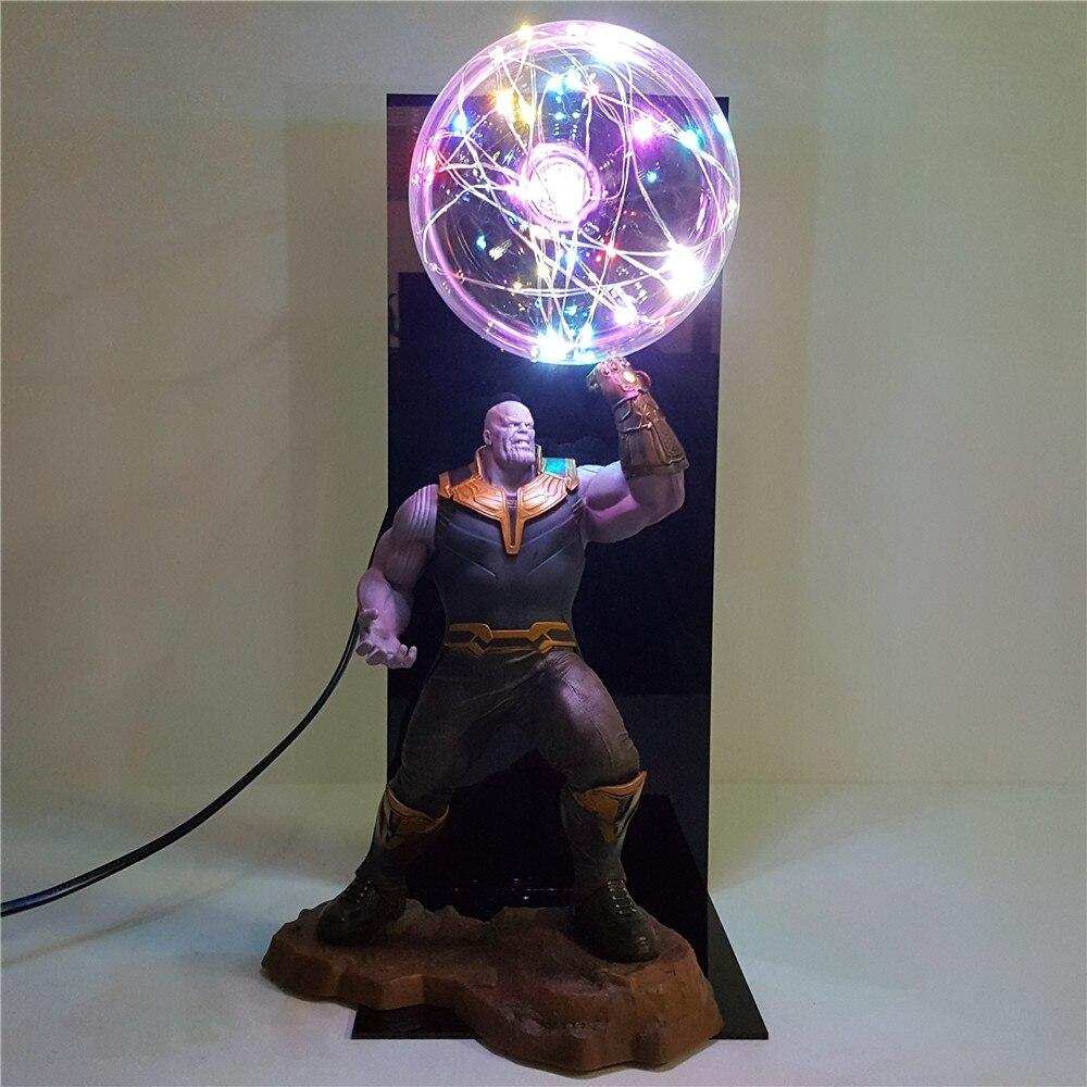 Avengers 4 Endgame Thanos Gauntlet Toys Lampara Led Bulb Flash DIY Night Light Infinity War Lamp Doll Display Set Anime Figure