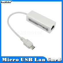 kebidu Micro USB to Network Card LAN Adapter Ethernet RJ45 10/100Mbps For Android Laptop Tablet Windows XP Vista Linux Win 7 8(China)