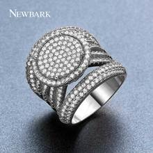 NEWBARK New Arrival Exquisite Unique Jewelry Ring Victoria Antique High Quality Silver Color Sun Round Design Ring for Lady(China)