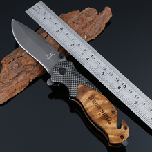 PEGASI Buck Outdoor Folding Blade Knife Titanizing Stainless Steel Practical Portable Knives For Mountain Climbing(China)