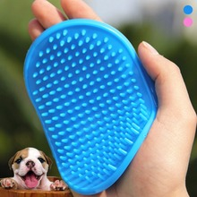 1pcs Soft Pet Bathe Massage Brushes Cat Dog Combo Cleaning Brush Puppy Hair Removal Bath Glove Grooming Tool Adjustable Strap S2