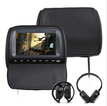 "2x9"" Black Color digital Screen Car Headrest DVD Player with 8 Bits & 32 Bits Games for volkswagen/honda/toyota"