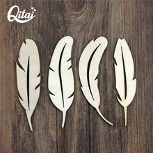 QITAI 48 Pieces/lot Top Grade Leaf Wood Crafts 2 mm Thick Plywood Vintage Party Home Decor Creative Gift Handmade Wf116