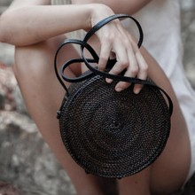 Buy 2018 INS Bali Circle Straw Bags Women Handmade Round Beach bag Summer Rattan Handbags Butterfly Women Messenger Bag for $44.98 in AliExpress store