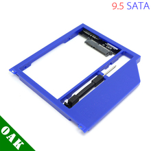 "[Free Shipping] New Plastic 9.5mm SATA to SATA Second HDD Caddy for Apple Macbook Pro Unibody 13"" /15""/17""  Blue Color"