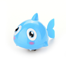 Hot Funny Baby Kids Bath Toy Clockwork Wind Up Plastic Swimming Shark Battery Operated Pool Bath Toys