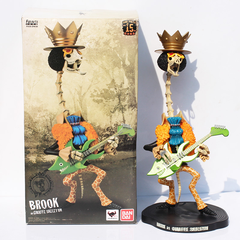 40cm Brook One Piece Japanese Anime Figure One Piece Brook Action Figures PVC Toys Gifts Collectable Model<br>