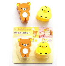 Original Rilakkuma & Yellow Chicken Sushi molds/Mould Cutter Bento Plastic Cake Ice Cream Mould H0971(China)
