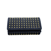 UNstyle Cool Personality Rivets Wallets 2017 New European and American Fashion Large Capacity Purse Multi-card Wallets QB022(China)