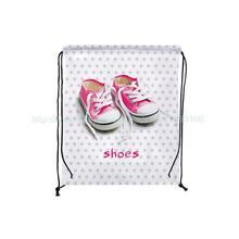 4Pcs Cute Baby Shoes print Custom Outdoor Beach Gym Swimming Clothing Shoes Towel Storage Bag Drawstring Backpack(China)