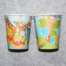 cartoon bear theme printed paper cups tableware children birthday party drinking cup*10pcs(China)
