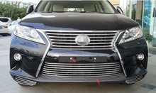 Accessories fit  for LEXUS ES250 ES300 2012 2013 2014 car-styling stainless steel front grille bumper cover trim