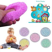 100ML Fluffy Slime Pinch Toy Beads Mixed Baby Relief Stress Playdough Light Clay Plasticine Mud Toy Kids Gift