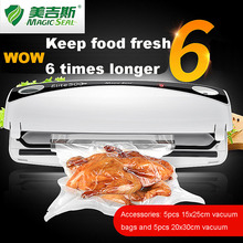 Magic Seal Vacuum Sealer Automatic Vacuum Sealing System Keeps Fresh up to 6x longer(China)