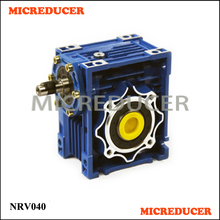 Chinese Mechanical Power Transmission NRV040 Aluminium Alloy Worm Gearbox with Motor(China)