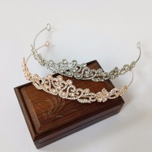 Gold and Silver Rhinestone Heart Bridal Tiara Crown Wedding Bride Hair Jewelry Accessories Women/Girl Prom Diadma Hair Ornaments(China)