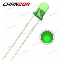 CHANZON 100pcs 3mm LED Diode Green Color Diffused DIP Round 3V Light-Emitting Diode Through Hole Light Lamp Electronic Component(China)