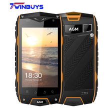 original AGM A7 4G Mobile Phone 4.0 Inch Waterproof IP68 2GB RAM 16GB ROM MSM8909 Quad Core Android 6.0 OTG GPS 8MP Cell Phone