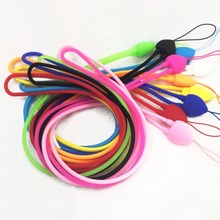New Style Heart Silicone Mobile Phone Strap Cell Phone Key USB Badge Cords Strap Lariat Lanyard Mobile Phone Strap
