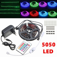 4PCS 5050 SMD IR Remote Controller 12V Power RGB LED Strip Light TV Kitchen Under Cabinet Background Fish Tank Kits(China)