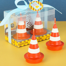 Traffic Cone shape smookless candle baby shower baptism birthday party favor children gift present baby boy girl christmas(China)