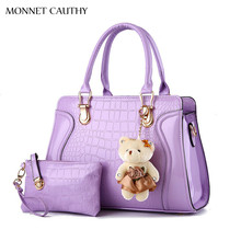 MONNET CAUTHY Daily New Female Bags Candy Color Lavender Wine Red Khaki Black Totes Handbags Elegant Lady Fashion Composite Bag