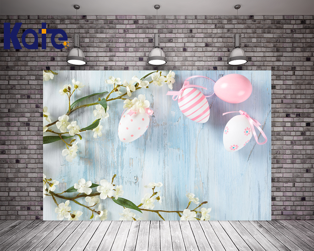 Kate Easter Wood Photo Backdrop Eggs Flower Backdrop Stand For Studio Newborn Washable Seamless Professional Photography Studio <br>