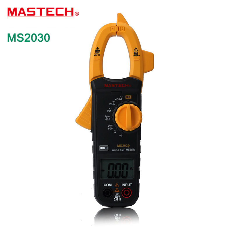 Multitester MASTECH MS2030 Digital  C Clamp Meters 400A multimeter with AC/DC Voltage Resistance Continuity Test &amp; Data Hold<br><br>Aliexpress