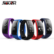 QS90 Blood Pressure and Heart Rate Monitor Smart Bracelet Watch Bluetooth Sleep Monitor Caller ID Reminder Sports Pedometer(China)