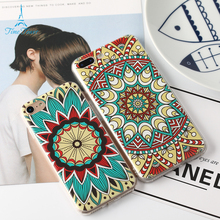 Time Tower Protector Coque For IPhone 7 Case Silicone Back Phone Case For IPhone 7 Plus Cover Indian Nation Customs Sign Pattern(China)