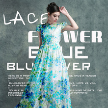2016 Telas Patchwork Foreign Trade Blue Charm Of Bud Silk Fabrics Cloth Spring, Summer, The Italian Fashion Clothing Material