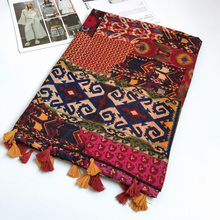 IANUS Women Cotton Scarf BOHO Ethnic Large Shawl Bright Color Female Hijab Brand New 180x100cm [0228]