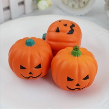 Bread Scent PU Foam Phone Charm Straps Lovely Pumpkin Smile Shaped Cute Cartoon Simulation Healing Phone Slow Rising Decor(China)