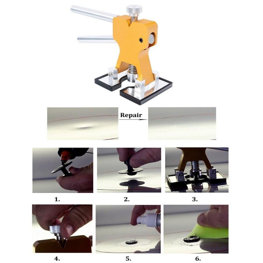 WHDZ Paintless Dent Repair Tool 65PCS Pdr Tool Kit Slider Hammer with Dent Lifter Bridge Puller Set LED Line Board Glue Puller (3)
