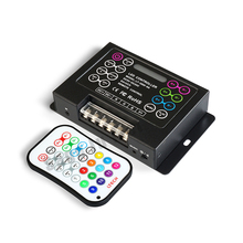 LT-3500-6A;LED RGB Music Controller;DC5-24V input;max 6A*3channel output support audio line with IR remote control DIY effect(China)