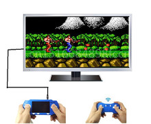 Rechargeable 2.7 Inch Handheld Game Player Console For Nes 8 Bit Games For Nes Games with 2P Wireless Gamepad 100 Games