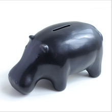 Large Piggy Bank Creative Gifts Black And White And Dichromatic Ceramic Animal Piggy Bank Money Coin Bank Tirelire C14(China)