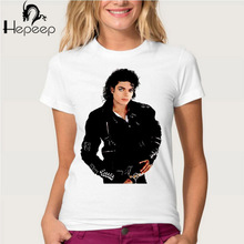 Track Ship+New Vintage Retro Cool Rock&Roll Punk women T-shirt Top Tee you remember Michael Jackson black leather styling
