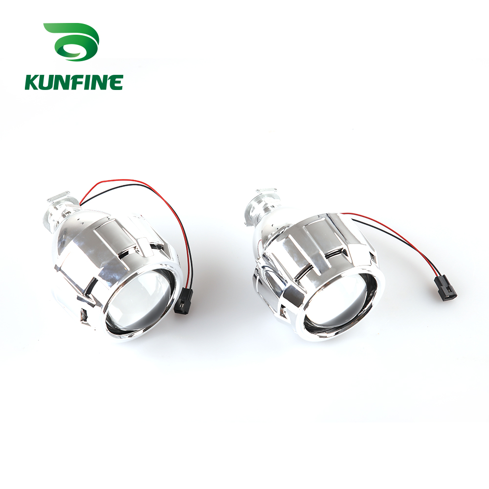 KUNFINE 2PCSlot 2.5 inch Bi-Xenon HID Projector Lens With high low beam for car headlight H1 halogen or xenon bulb (6)