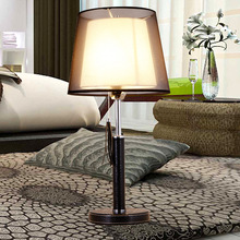 Creative Art Simple Modern Fabric Leather Led E27 Table Lamp With Cable Switch For Bedroom Bedside Living Room Reading 1940