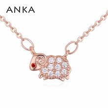 ANKA cute Aries AAA cubic zircon necklace rose gold color animal sheep constellation pendant for choker women jewelry #115021(China)