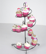 18 Cup Metal rotating frame Cupcake and Dessert Stand Holder/white Spins manually Cake Holder Decorating Display Party Tools