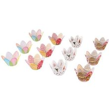 75 Mixed Petal Muffin Cupcake Paper Cases Liners Cups
