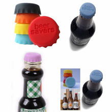 6Pcs Silicone Bar Wine Stopper, Fresh Keeping Bottle Cap, Flavored Beer/Beverage Corks, Kitchen Champagne Closures